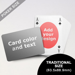 Ovate Bridge Style Poker Size Personalized Both Sided Landscape Back Playing Cards (63.5 x 88.9mm)