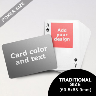 Top Portrait Photo Personalized Both Sides Landscape Back Playing Cards (63.5 x 88.9mm)