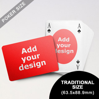 Ovate Bridge Style Poker Size Custom Front and Landscape Back Playing Cards (63.5 x 88.9mm)