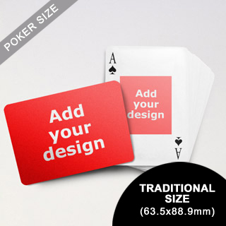 Centre Portrait Photo Custom Front and Landscape Back Playing Cards (63.5 x 88.9mm)