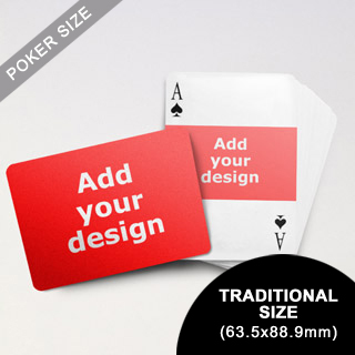 Landscape Photo Custom Font and Landscape Back Playing Cards (63.5 x 88.9mm)
