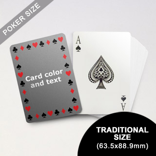Timeless Frame - Poker With Custom Message (63.5 x 88.9mm)