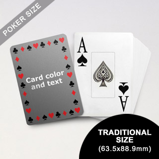 Timeless Frame - Poker With Custom Message & Jumbo Index (63.5 x 88.9mm)