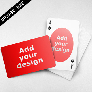 Bridge Size Playing Cards – Oval Back, Wide-angled Front