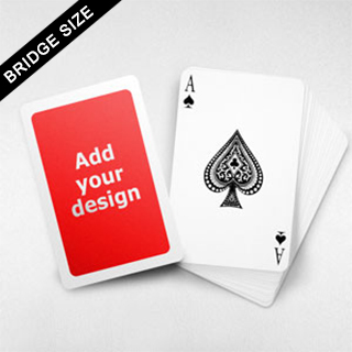 White Border Bridge Size Cards