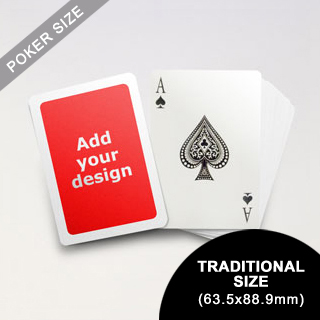 White Border Poker Size Cards (63.5 x 88.9mm)
