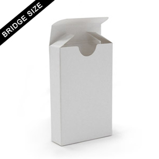 Tuck box for bridge size cards