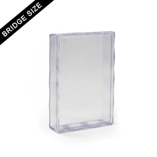 Plastic case for 55 bridge size card deck