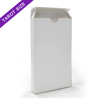 White tuck box for tarot size cards