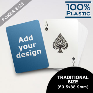 Custom Plastic Poker Cards (63.5 x 88.9mm)