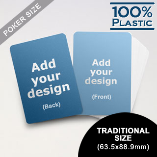 Plastic Poker Size Custom Game Cards (Blank Cards) (63.5 x 88.9mm)