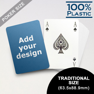 Custom Plastic Playing Cards Bridge Style (63.5 x 88.9mm)