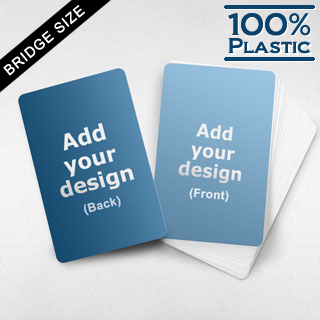 bridge size custom plastic cards blank cards view - Custom Plastic Cards