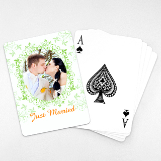 Wedding Photo Playing Cards – Refreshing Green