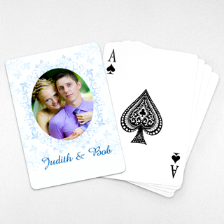 Wedding Photo Playing Cards – Ocean Blue