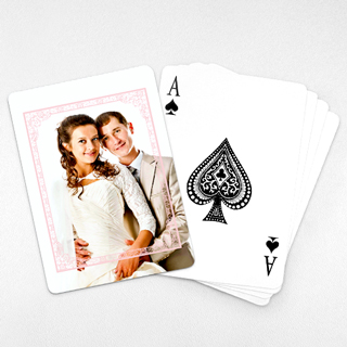 Wedding Photo Playing Cards – Dreamy Pink