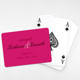 Wedding Invitation - Classic Playing Cards (Landscape)