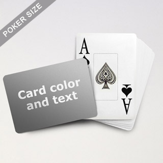 Jumbo Index Cards - Poker Size With Custom Message (Landscape)