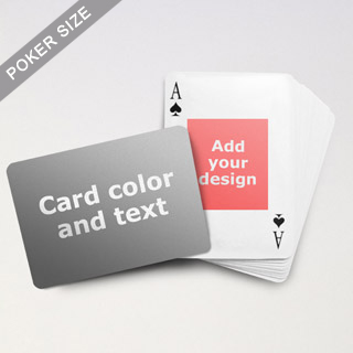 Centre Portrait Photo Personalized Both Sides Landscape Back Playing Cards