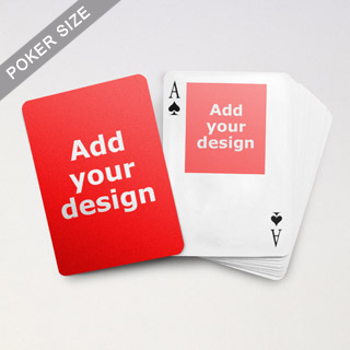 Top Portrait Photo Custom Front and Back Playing Cards