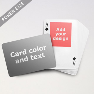 Top Portrait Photo Personalized Both Sides Landscape Back Playing Cards