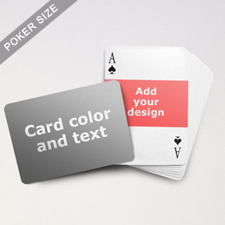 Landscape Photo Personalized Both Sides Horizontal Back Playing Cards