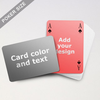 Custom Playing Cards With Text Surface And Image Back
