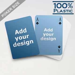Custom Sides Plastic Poker Simple Bridge Style