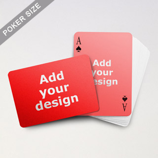 Simple Custom Front and Landscape Back Playing Cards
