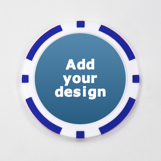 Custom Blue Casino Chip with Image