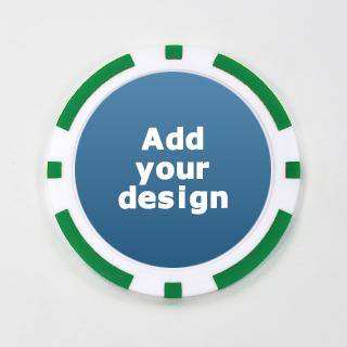 Personalized Green Casino Poker Chip