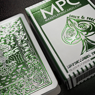 Impressions Foil Green Back Playing Cards