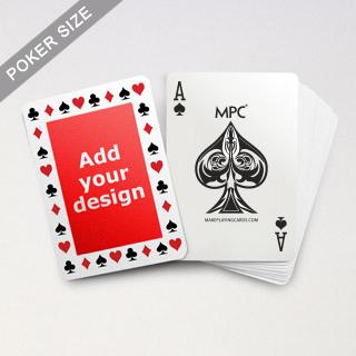 Pips Border MPC Custom Back Poker Deck