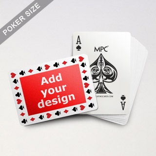 Pips Border MPC Custom Back Poker Deck (Landscape)