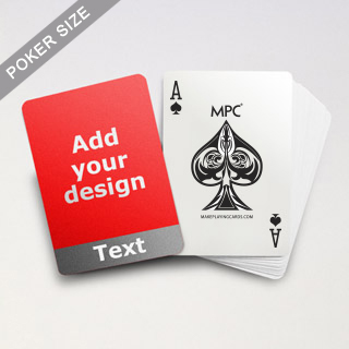 Cool Grey Personalized Photo Playing Cards