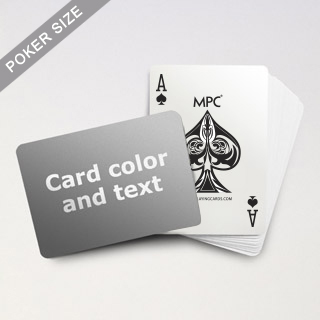 Custom Text Standard MPC Playing Cards (Landscape)