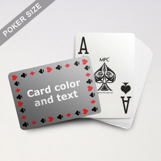 Personalized Poker Cards With Jumbo Index and 4 Pips Border (Landscape Back)