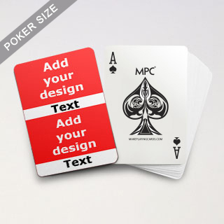 Twin Collage Series Playing Cards with Your Text