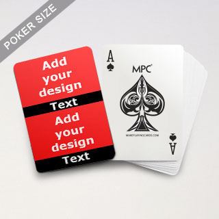 Twin Collage Black Series Playing Cards with Your Text