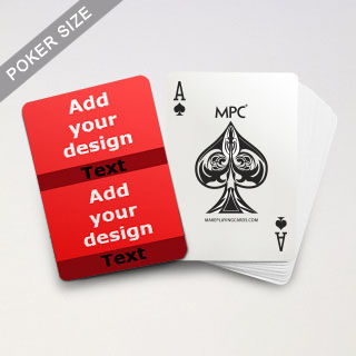 Twin Collage Red Series Playing Cards with Your Text