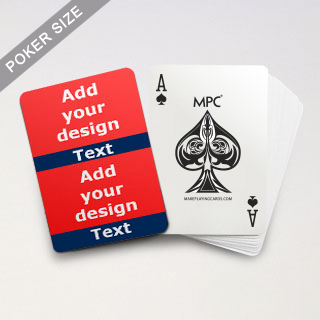 Twin Collage Blue Series Playing Cards with Your Text