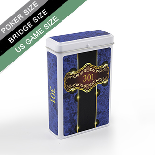 Custom Hinged Tin Box for Poker/Bridge/US Game Sized Cards