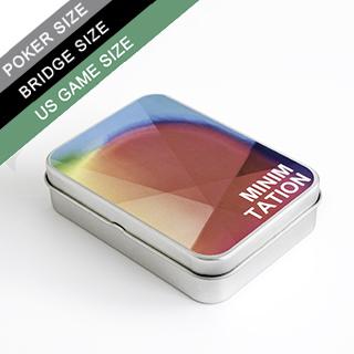 Custom Label Tin Box for Poker/Bridge/US Game Sized Cards