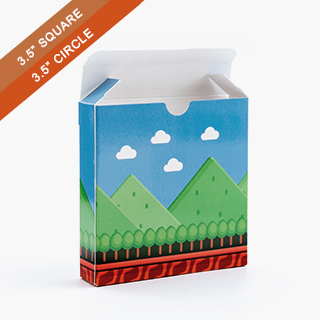 Custom Tuck Box for 3.5 Inch Square Cards