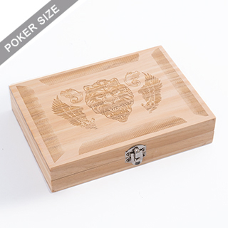 Custom Wooden box for Double deck - Engrave
