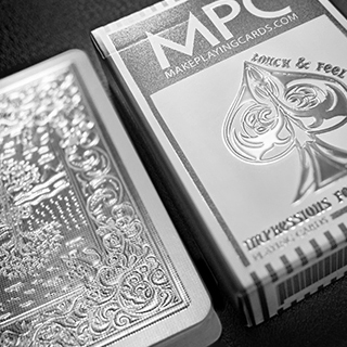 Impressions Foil Silver Back Playing Cards