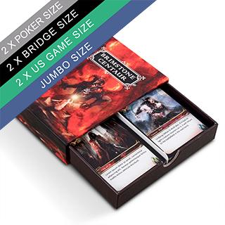 Custom Double Drawer Box For 2 Poker Size Decks