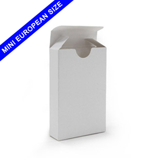 Tuck box for mini European sized playing cards