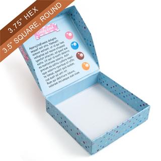 Custom Easy-Flip one-piece Box (Square)