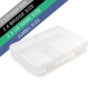 Double Deck Clear Plastic Box